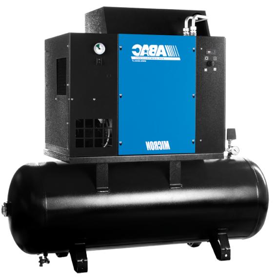 Compresor aer cu surub si uscator 270 litri ABAC Micron 0