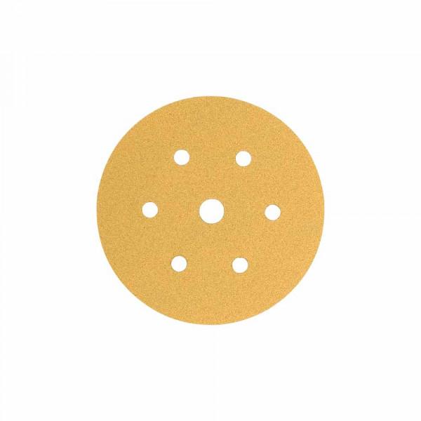 Disc abraziv slefuit velcro, Colad 3650xxxx10 Premium, 6+1 gauri, duritate P150, diametru Ø 150 mm [0]