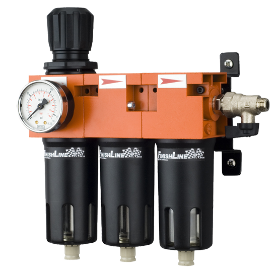 Baterie filtrare aer, DeVilbiss FLRCAC-1, filtrare aer cu regulator, baterie 3 filtre, pana la 0.003 microni cu carbon activ 0