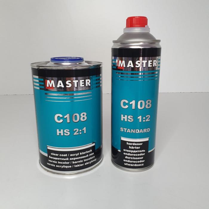 Lac acrilic HS 2:1, Master C108, cantitate 1 litru + intaritor 0.5 l [1]