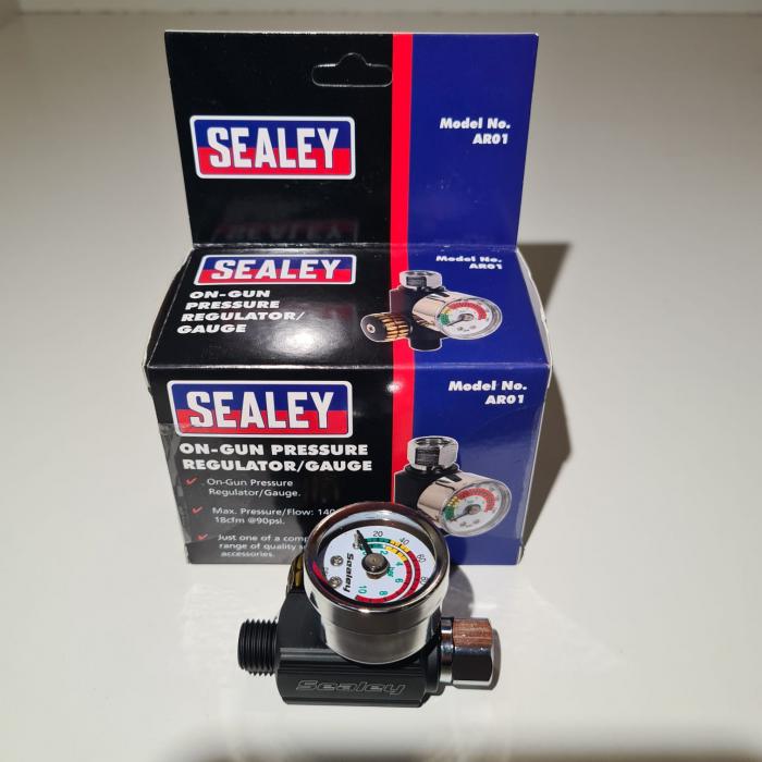 Regulator de presiune aer cu manometru mecanic,Sealey AR01, montare pe furtun, cupla 1/4, maxim 10 bar [4]