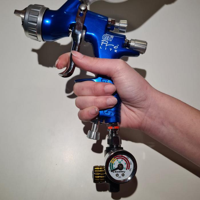 Regulator de presiune aer cu manometru mecanic,Sealey AR01, montare pe furtun, cupla 1/4, maxim 10 bar [2]
