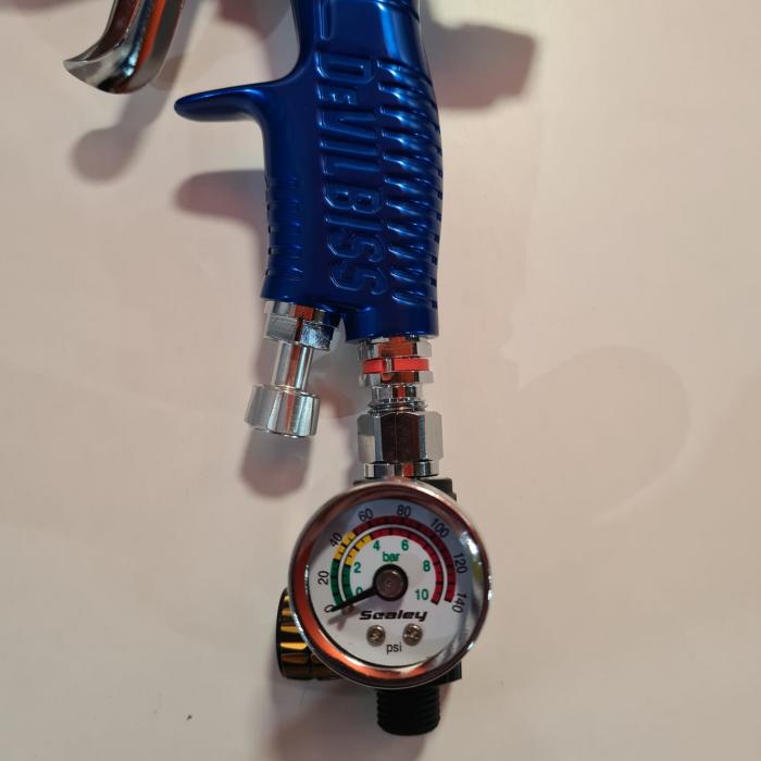 Regulator de presiune aer cu manometru mecanic,Sealey AR01, montare pe furtun, cupla 1/4, maxim 10 bar [1]