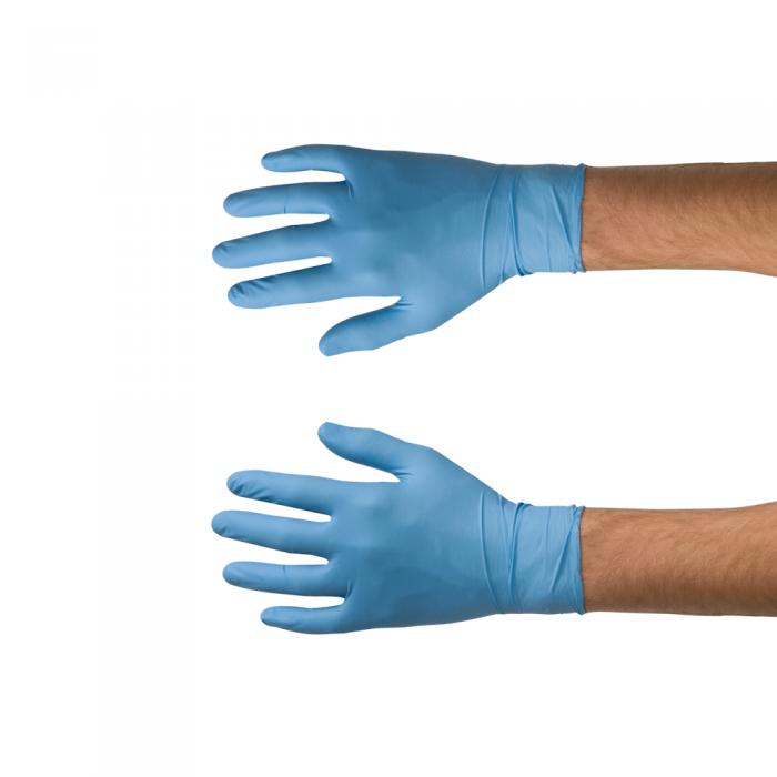 Manusi nitril Colad 53090x foarte rezistente, culoare albastru, grosime 0.115 mm, cutie 100 buc [0]
