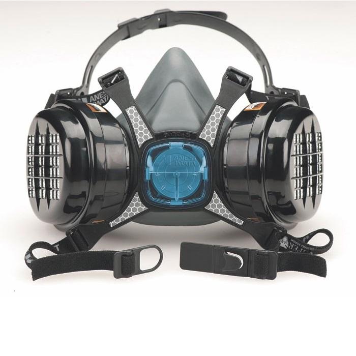 Masca protectie profesionala Anvest Iwata Viper cu filtru de carbon A2P3 si 2 prefiltre 1