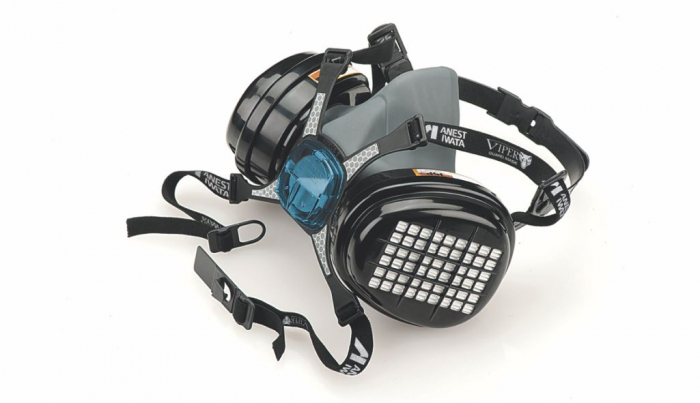 Masca protectie profesionala Anvest Iwata Viper cu filtru de carbon A2 P3 si 2 prefiltre 2