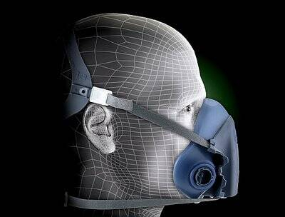 Masca protectie profesionala 3M™ 7502 Marime M, de protectie respiratorie, fara filtre (se comanda separat) 2