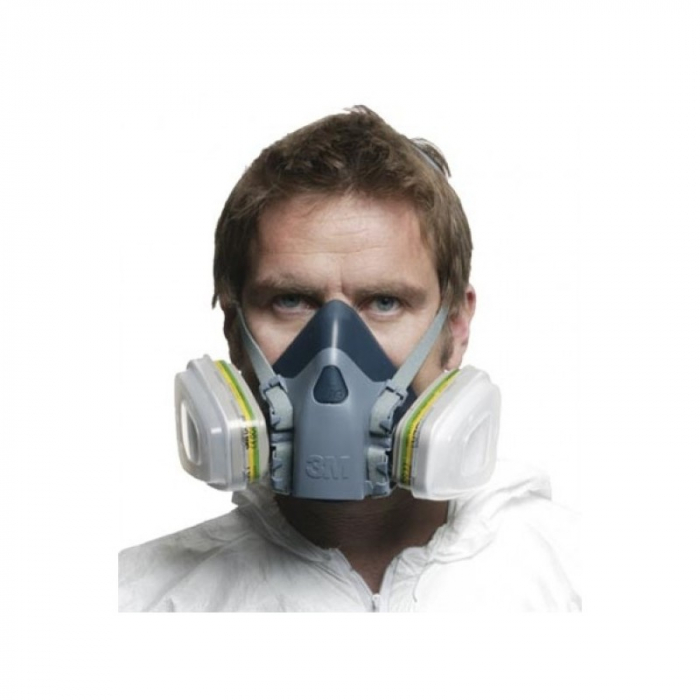 Masca protectie profesionala 3M™ 7502 Marime M, de protectie respiratorie, fara filtre (se comanda separat) 1