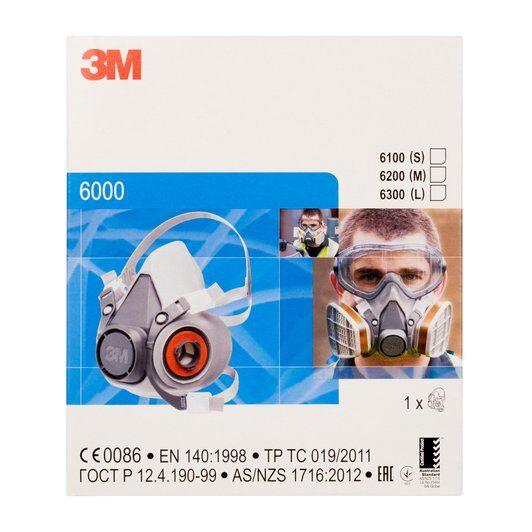 Masca protectie profesionala 3M™ 6200 Marime M, de protectie respiratorie, fara filtre (se comanda separat) 4