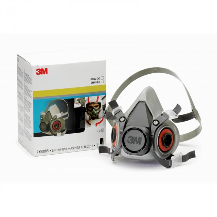 Pachet masca protectie profesionala 3M™ 6000 Series cu filtre A1 si prefiltre P1 incluse (pachet complet) 4