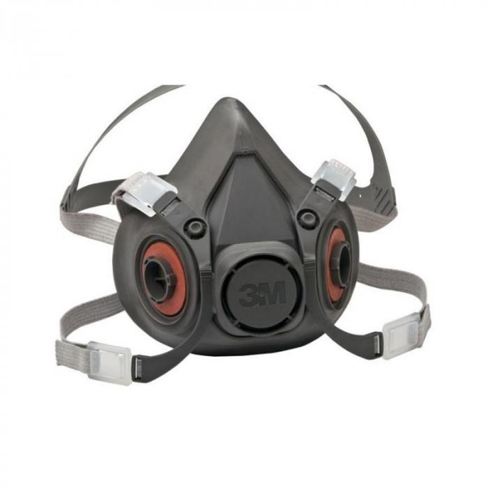 Pachet masca protectie profesionala 3M™ 6000 Series cu filtre A1 si prefiltre P1 incluse (pachet complet) 3
