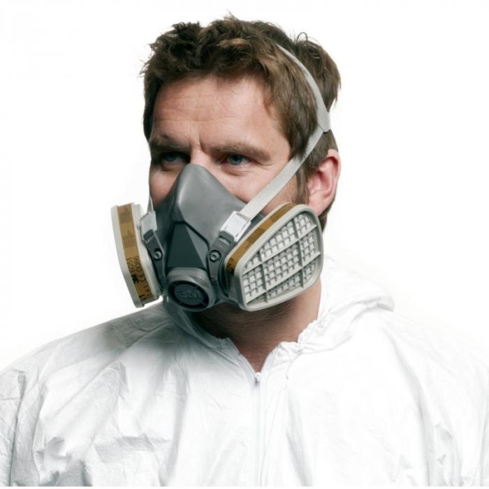 Masca protectie profesionala 3M™ 6200 Marime M, de protectie respiratorie, fara filtre (se comanda separat) 2