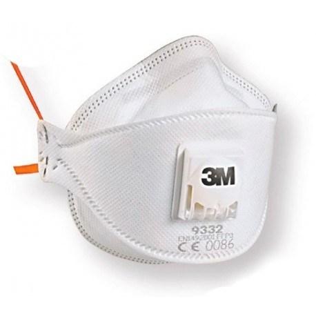 Masca protectie respiratorie 3M Aura™ 9332+, protectie ridicata FFP3, supapa 3M™ Cool Flow™ 5