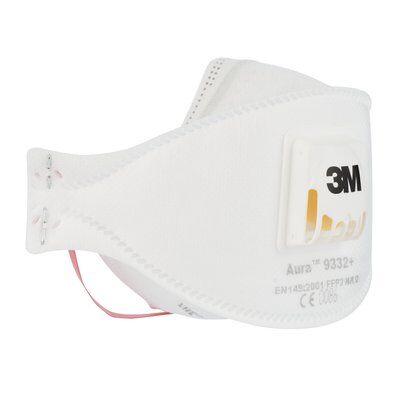 Masca protectie respiratorie 3M Aura™ 9332+, protectie ridicata FFP3, supapa 3M™ Cool Flow™ 2