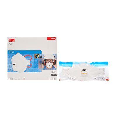 Masca protectie respiratorie 3M Aura™ 9332+, protectie ridicata FFP3, supapa 3M™ Cool Flow™ 4