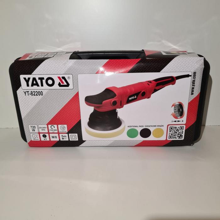 Masina de polisat electrica, YATO YT-82200, cu orbitare, 230V Ø 150 mm + accesorii [1]