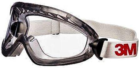 Ochelari de protectie 3M™ 2890SA etans cu aerisire indirecta, lentila incolora din policarbonat, cu strat anticondens si antizgariere 3