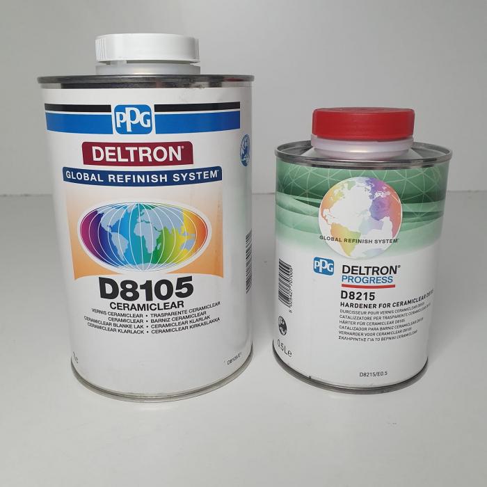 Pachet lac + intaritor, PPG D8105, Deltron Ceramic CeramiClear®, cantitate 1 litru [1]