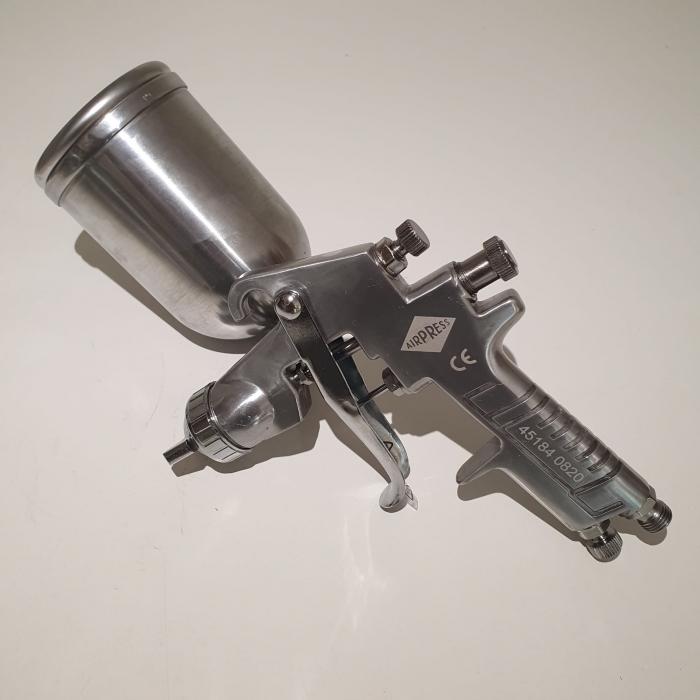 Pistol de vopsit, Airpress 45184 HP, cupa metal 400 ml, duza la alegere, consum aer incepand cu 113 l/min [8]