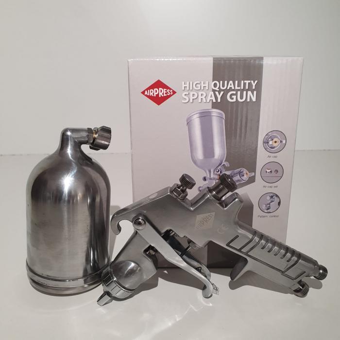 Pistol de vopsit, Airpress 45184 HP, cupa metal 400 ml, duza la alegere, consum aer incepand cu 113 l/min [2]