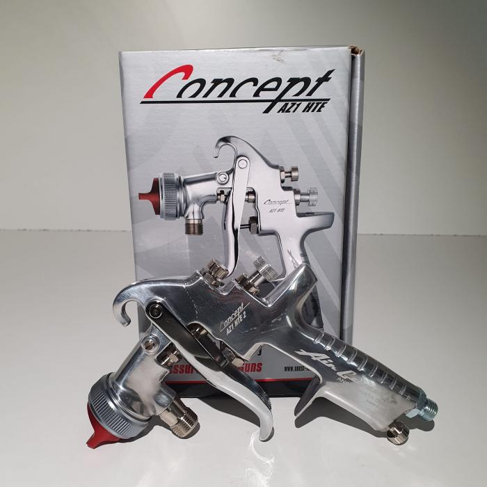 Pistol de vopsit cu prezurizare, Anest Iwata AZ1 HTE 2P, duza la alegere, consum aer 416 l/min [1]