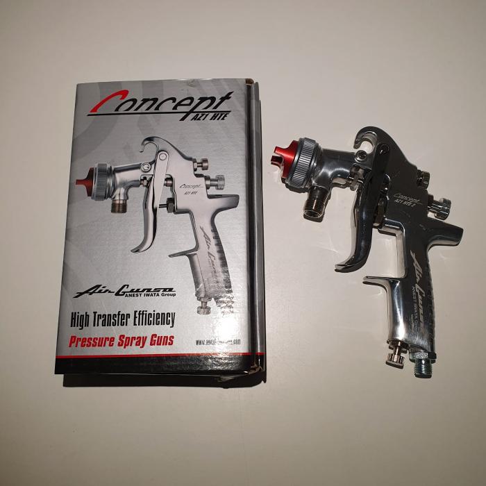 Pistol de vopsit cu prezurizare, Anest Iwata AZ1 HTE 2P, duza la alegere, consum aer 416 l/min [3]