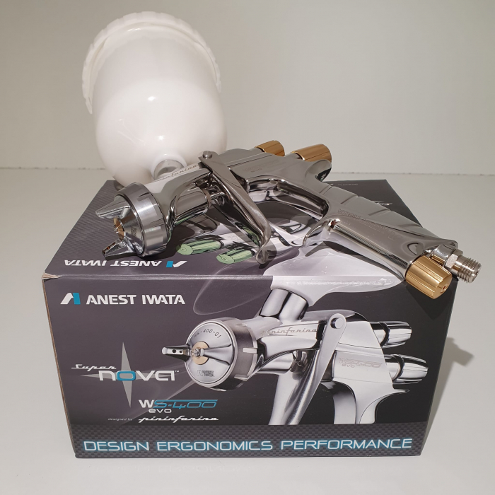 Pistol de vopsit, Anest Iwata Pininfarina WS-400 Evo Base, Pro Kit - cutie carton, cana 600 ml [7]