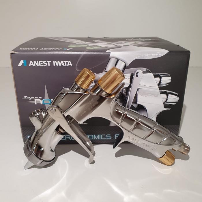 Pistol de vopsit, Anest Iwata Pininfarina WS-400 Evo Base, Pro Kit - cutie carton, cana 600 ml [4]