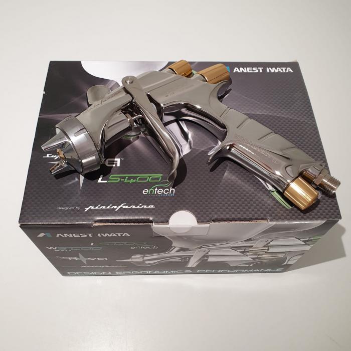 Pistol de vopsit, Anest Iwata Pininfarina WS-400 Evo Base, Pro Kit - cutie carton, cana 600 ml [3]
