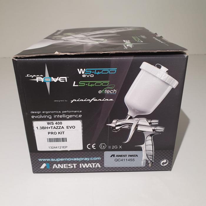 Pistol de vopsit, Anest Iwata Pininfarina WS-400 Evo Base, Pro Kit - cutie carton, cana 600 ml [1]