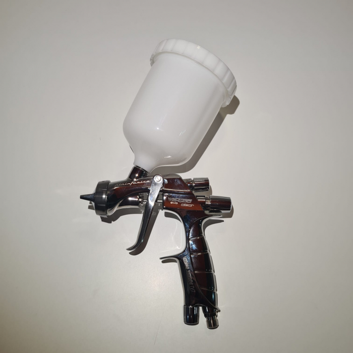 Pistol de vopsit Anest Iwata Pininfarina WS-400 Evo Clear, Pro Kit - cutie carton, cana 600 ml [3]