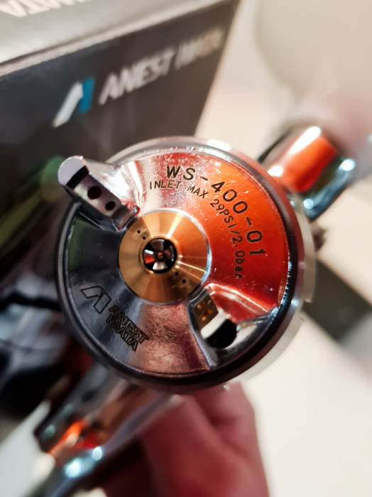 Pistol de vopsit Anest Iwata Pininfarina WS-400 Evo Clear, Pro Kit - cutie carton, cana 600 ml [4]