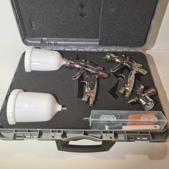 Pistol de vopsit, Anest Iwata SuperKit, 2 x Supernova WS400 Evo Clear 1.3 mm + LS400 Evo Base 1.3 mm [2]