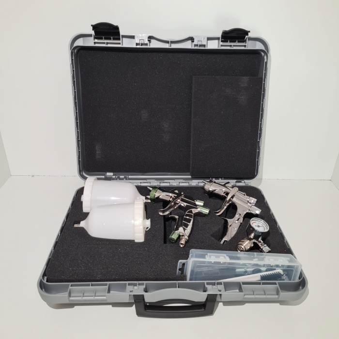 Pistol de vopsit, Anest Iwata, SuperKit 2 x Supernova WS400 Evo Clear HD 1.3 mm + LS400 Entech ETS 1.3 mm [3]