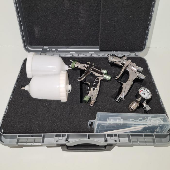 Pistol de vopsit, Anest Iwata, SuperKit 2 x Supernova WS400 Evo Clear HD 1.3 mm + LS400 Entech ETS 1.3 mm [4]