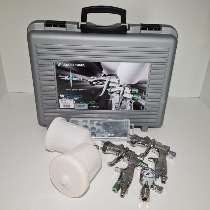 Pistol de vopsit, Anest Iwata, SuperKit 2 x Supernova WS400 Evo Clear HD 1.3 mm + LS400 Entech ETS 1.3 mm [2]