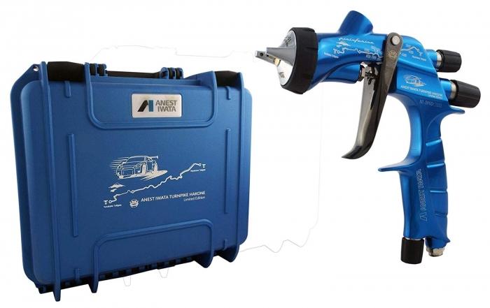Pistol de vopsit Anest Iwata Pininfarina TurnPike Hakone pachet Master Kit, duza ø 1,3 mm, cana 600 ml, regulator presiuneAFV-2 5