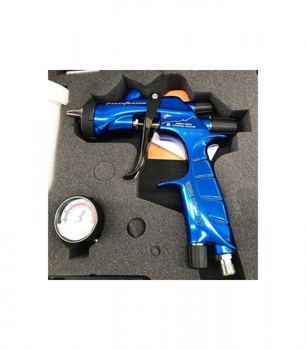 Pistol de vopsit Anest Iwata Pininfarina TurnPike Hakone pachet Master Kit, duza ø 1,3 mm, cana 600 ml, regulator presiuneAFV-2 9