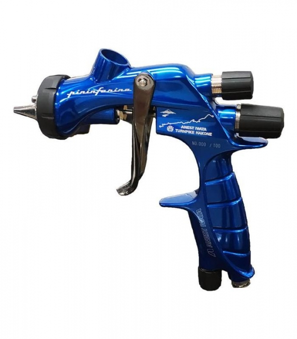Pistol de vopsit Anest Iwata Pininfarina TurnPike Hakone pachet Master Kit, duza ø 1,3 mm, cana 600 ml, regulator presiuneAFV-2 10