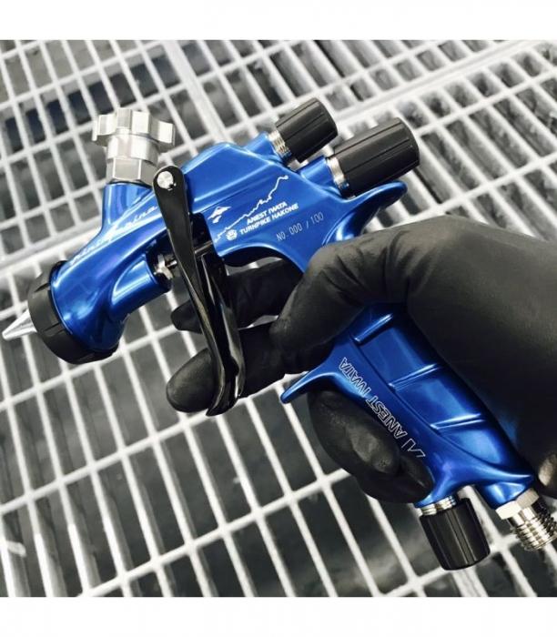 Pistol de vopsit Anest Iwata Pininfarina TurnPike Hakone pachet Master Kit, duza ø 1,3 mm, cana 600 ml, regulator presiuneAFV-2 8