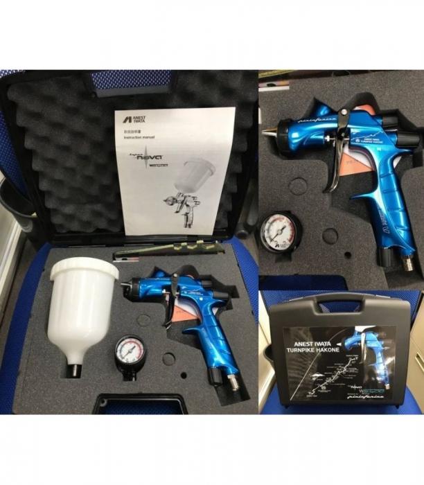 Pistol de vopsit Anest Iwata Pininfarina TurnPike Hakone pachet Master Kit, duza ø 1,3 mm, cana 600 ml, regulator presiuneAFV-2 6