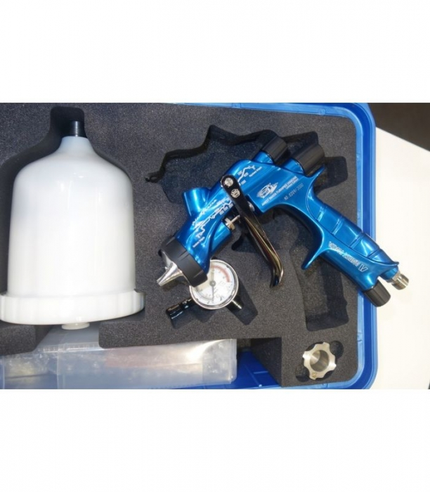 Pistol de vopsit Anest Iwata Pininfarina TurnPike Hakone pachet Master Kit, duza ø 1,3 mm, cana 600 ml, regulator presiuneAFV-2 7