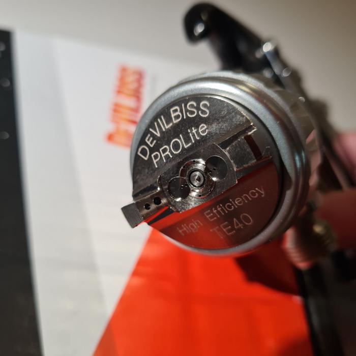 Pistol de vopsit cu prezurizare, DeVilbiss GTi Pro Lite, diferite duze, diferite capuri de aer [5]