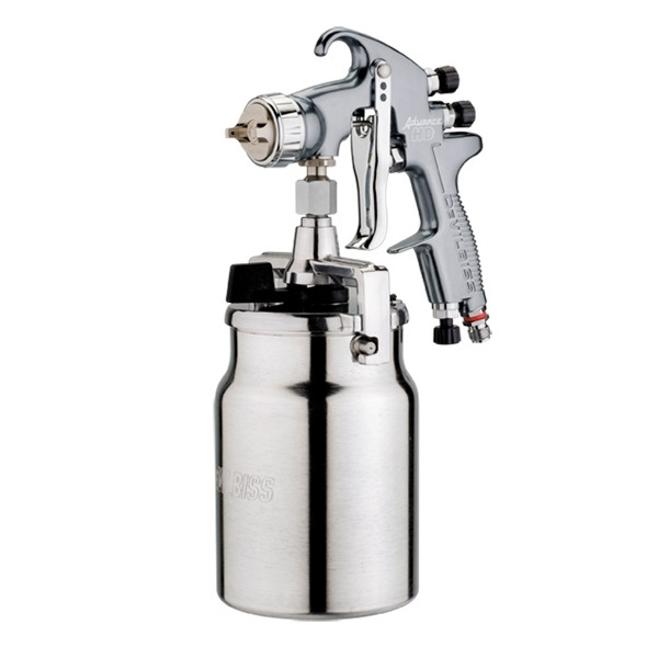Pistol de vopsit DeVilbiss Advance HD Conventional Suction, cupa metal 1000 ml, duza la alegere, consum aer de la 339 l/min [0]