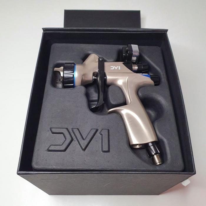 Pistol de vopsit DeVilbiss DV1 VOPSEA (DIGITAL), cupa plastic 600 ml, duza la alegere, consum aer incepand cu 300 l/min [7]