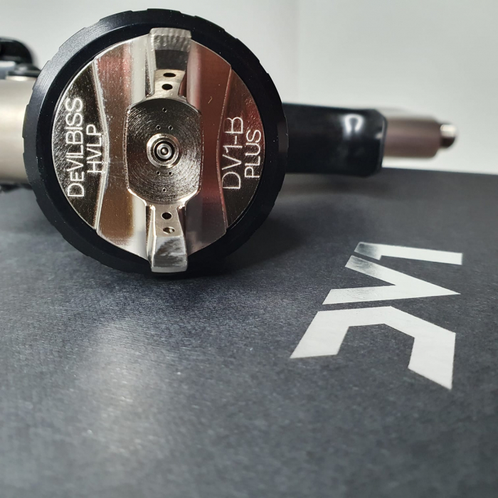 Pistol de vopsit DeVilbiss DV1 VOPSEA (DIGITAL), cupa plastic 600 ml, duza la alegere, consum aer incepand cu 300 l/min [10]