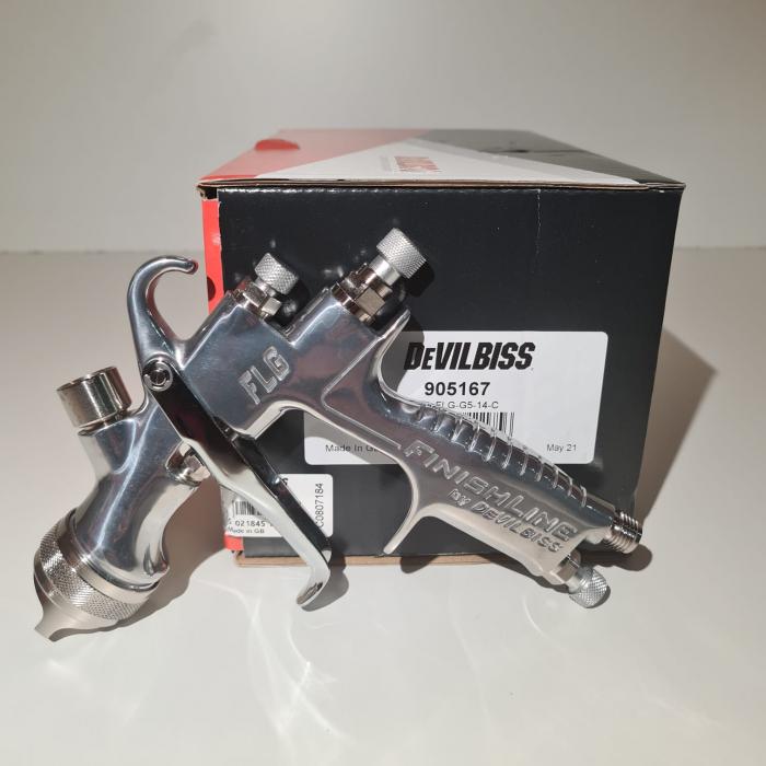 Pistol de vopsit DeVilbiss FLG-G5, cupa plastic 560 ml, disponibil diferite duza, consum aer 277 l/min [1]