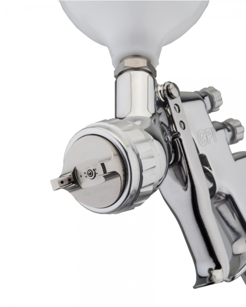 Pistol de vopsit DeVilbiss GPi-GP1, cupa plastic 560 ml, duza la alegere, consum aer incepand cu 270 l/min [1]
