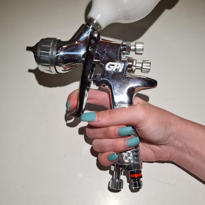 Pistol de vopsit DeVilbiss GPi-GP1, cupa plastic 560 ml, duza la alegere, consum aer incepand cu 270 l/min [6]