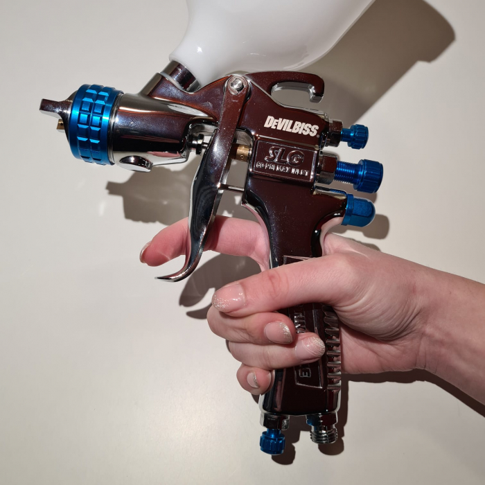 "Pistol de vopsit DeVilbiss SLG-620 ""Starting Line"", cupa plastic 600 ml, duza la alegere, consum aer 250 l/min [9]"